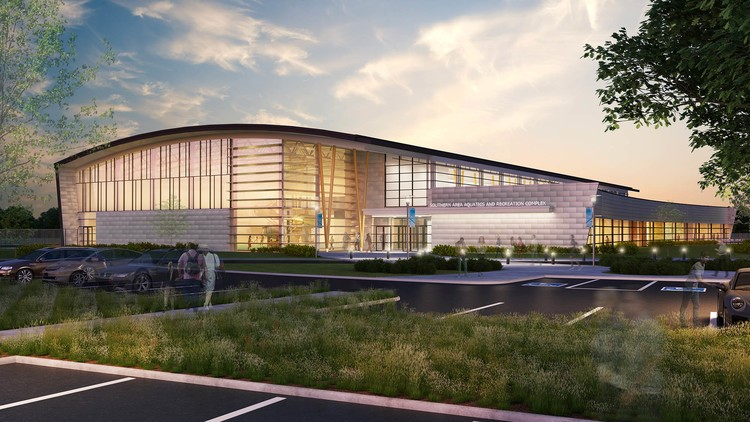Graphic Artist rendering of Southern Area Aquatic and Recreation Complex