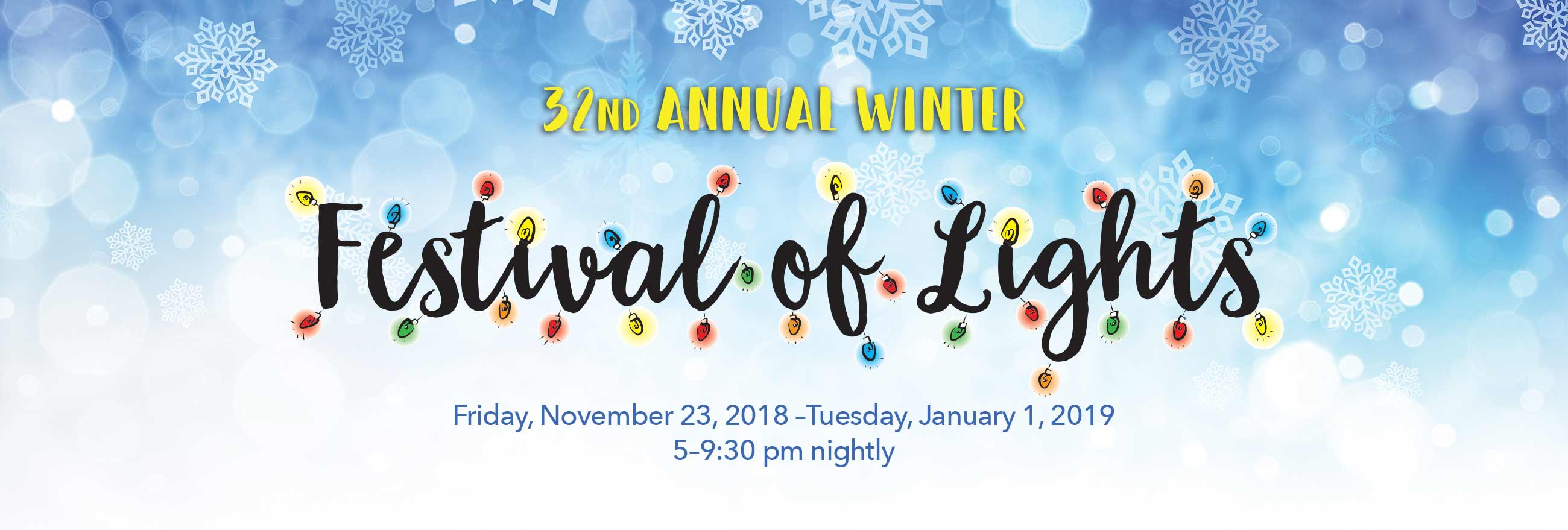 32nd Annual Festival of Lights at Watkins Regional Park