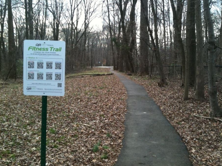 QR F.I.T. Trail Sign