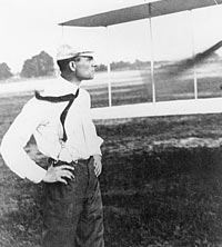 Wright Standing in the Field Looking