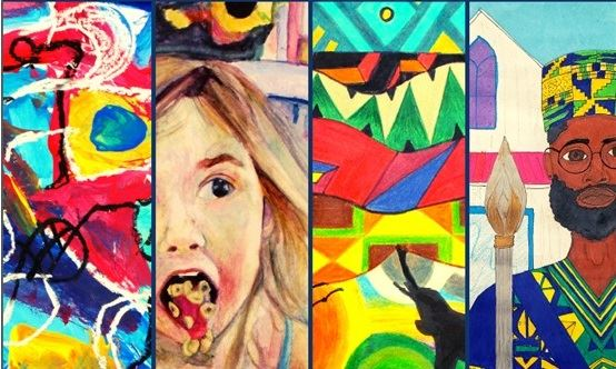 PGCPS Art Exhibit, compilation of student artwork